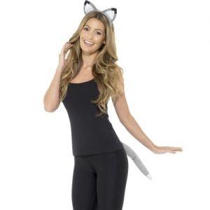 Animal Fancy Dress Ears Set - Wolf