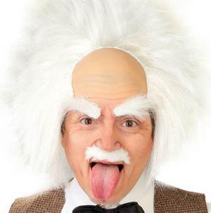 Men's Einstein or Halloween Mad Scientist Wig