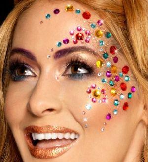 Rainbow Jewel Face Gems Make Up