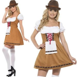 Ladies Oktoberfest Bavarian Beer Maid Costume