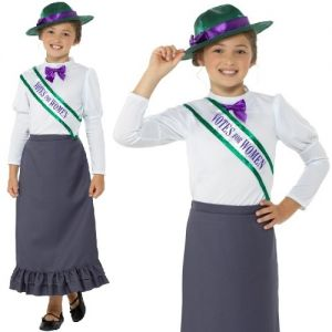 Childs Victorian Suffragette Costume