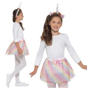 Childrens Unicorn Fancy Dress Tutu & Headband Set