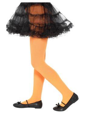 Childrens Girls Opaque Tights - Orange