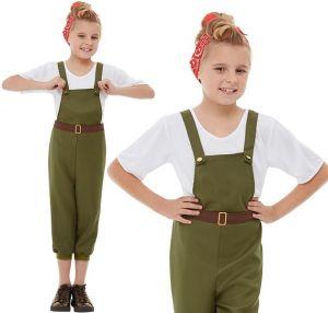 Childs Girls Little Land Girl Costume