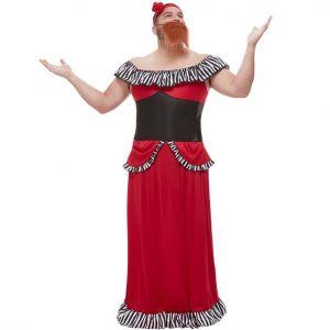 Showman Bearded Lady ancy Dress Costume