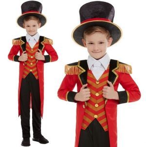 Childs Deluxe Circus Ringmaster Showman Costume