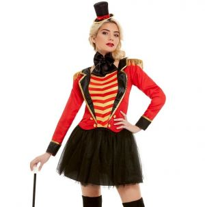Ladies Deluxe Ringmaster Fancy Dress Costume