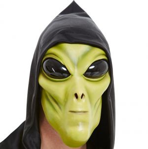 Alien Face Mask with Hood