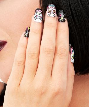 Halloween Day of the Dead False Nails