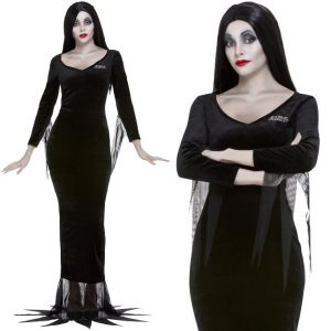 Ladies Officially Licensed Addams Family Morticia Costume
