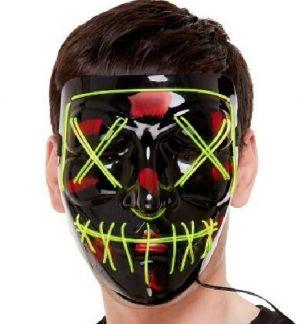 Black Light Up Face Mask