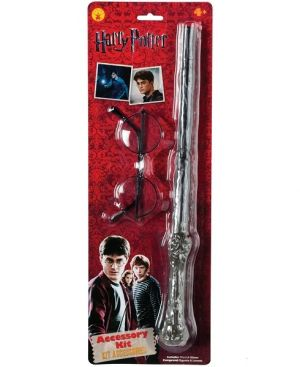 Officially Licensed Harry Potter Childs Wand & Glasses Kit