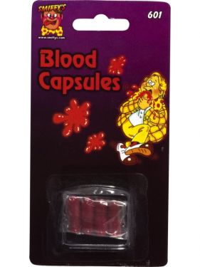 Halloween Fancy Dress Joke Blood Capsules - Pack of 4