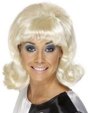 Ladies 1960s Lady Flick Up Fancy Dress Wig - Blonde