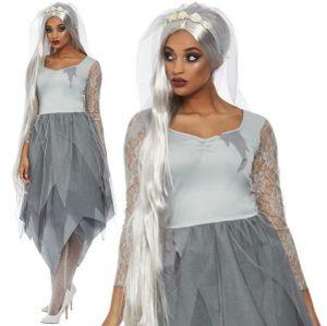 Grey Graveyard Bride Costume