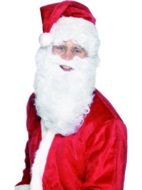 Christmas Fancy Dress Long Curly Santa Beard
