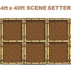 Hawaiian Party Scene Setter - Bamboo Grid Design