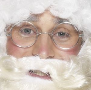 Christmas Fancy Dress Round Santa Specs Glasses