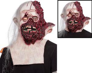 Halloween Mutilated Burnt Man Head & Neck Mask