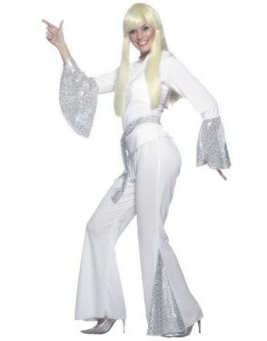 70s Disco Lady Fancy Dress Costume - S, M & L
