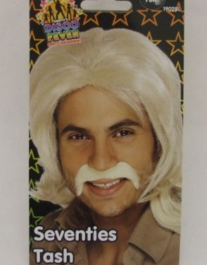 1970s Disco Fever Fancy Dress Moustache - Blonde