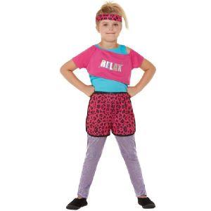 Girls 80s Relax Costume