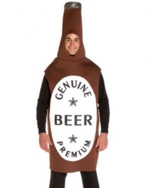 Mens Fancy Dress - Adult Beer Bottle Costume - One Size