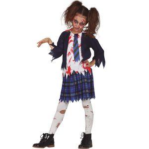 Childs Zombie Schoolgirl Costume
