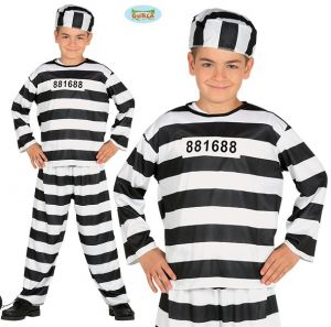 Childs Prisoner Inmate Fancy Dress Costume