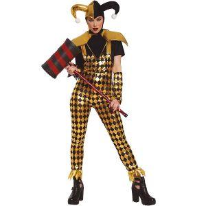Ladies Halloween Dangerous Harlequin Costume