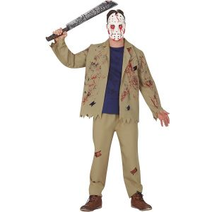 Adult Halloween Psycho Killer Costume & Mask