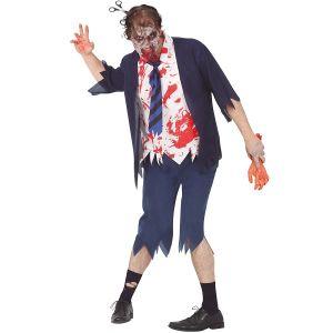 Mens Halloween Zombie Policeman Costume