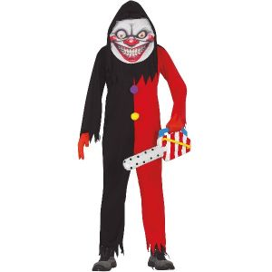 Mens Evil Smile Clown Costume