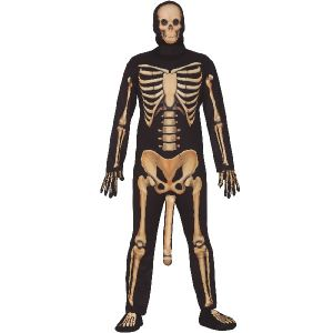 Adult Halloween Comedy Skeleton Costume