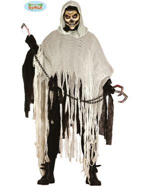 Mens Halloween Ghost Skeleton Costume