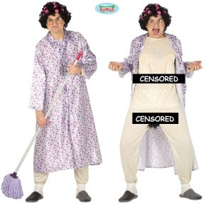 Mens Bad Granny Stag Night Costume