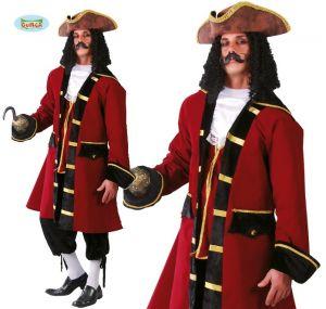 Mens Pirate Captain Fancy Dress Costume