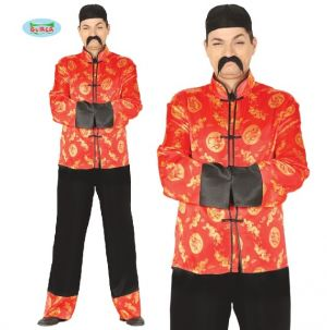 Mens Chinese Fancy Dress Costume