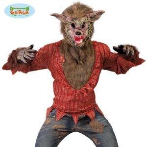 Mens Halloween Werewolf Costume & Mask