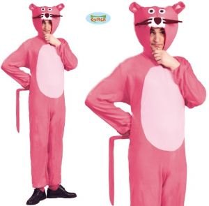 Mens Adult Panther Costume - Pink