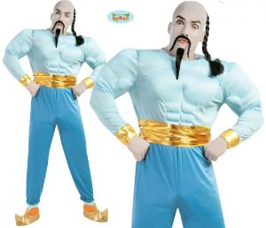 Mens Muscle Lamp Genie Costume