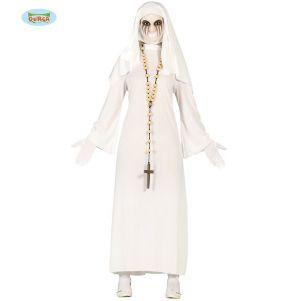 Ladies Halloween Ghost Nun Costume