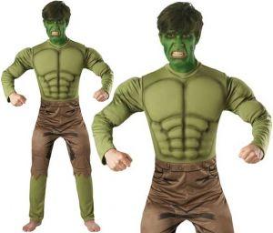 Mens Hulk Fancy Dress Costume
