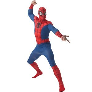 Mens Deluxe Spiderman Costume