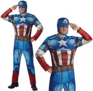 Mens Licensed Classic Captain America Costume