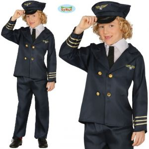 Childrens Airline Pilot Fancy Dress Costume