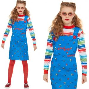 Officially Licensed Chucky Girl Fancy Dress Costume