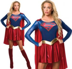 New TV Series Supergirl Fancy Dress Costume