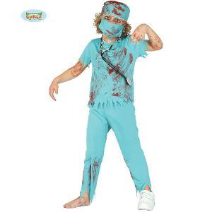 Childs Zombie Surgeon Fancy Dress Costume