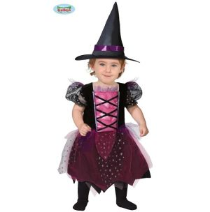Babies Little Witch Fancy Dress Costume